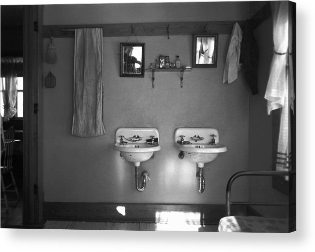 1936 Acrylic Print featuring the photograph Farmhouse Washroom, 1936 by Granger