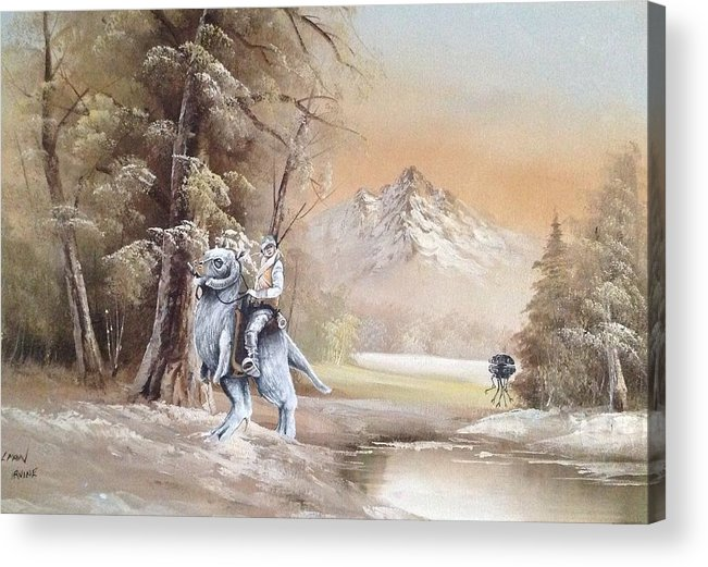 Star Wars Acrylic Print featuring the painting Followed by David Irvine