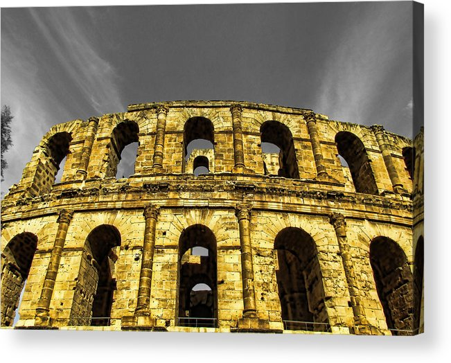 Architectur Acrylic Print featuring the painting In The Shade Of Time by Dhouib Skander
