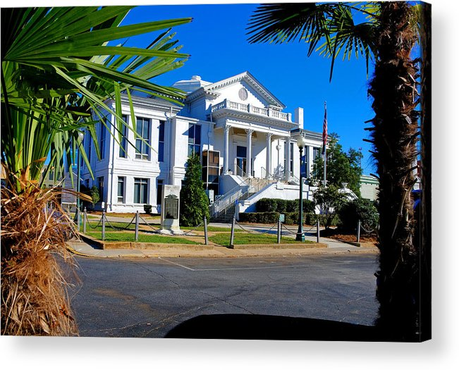 Laurens Acrylic Print featuring the photograph Laurens County Court House 2 by Joseph C Hinson Photography