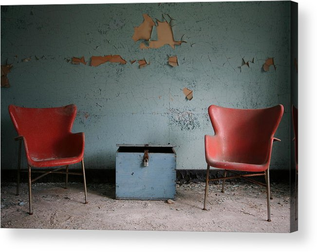 Abandoned Acrylic Print featuring the photograph Let's Have A Talk by Angela Angermaier