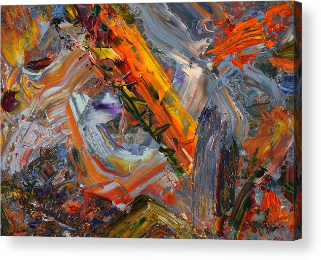 Abstract Acrylic Print featuring the painting Paint Number 44 by James W Johnson