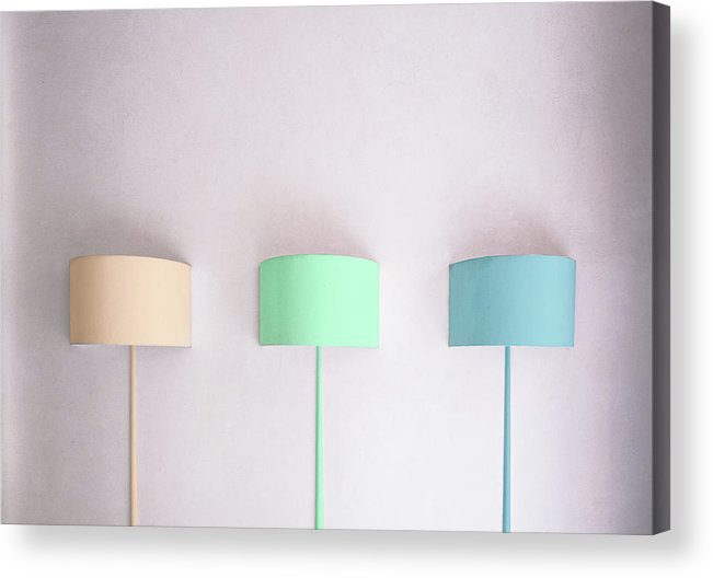 Pastel Acrylic Print featuring the photograph Pastels. by Harry Verschelden