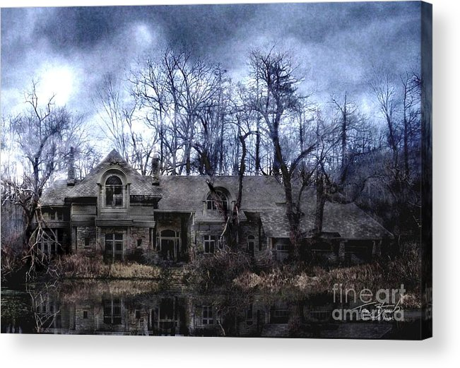 Deserted Acrylic Print featuring the photograph Plunkett Mansion by Tom Straub