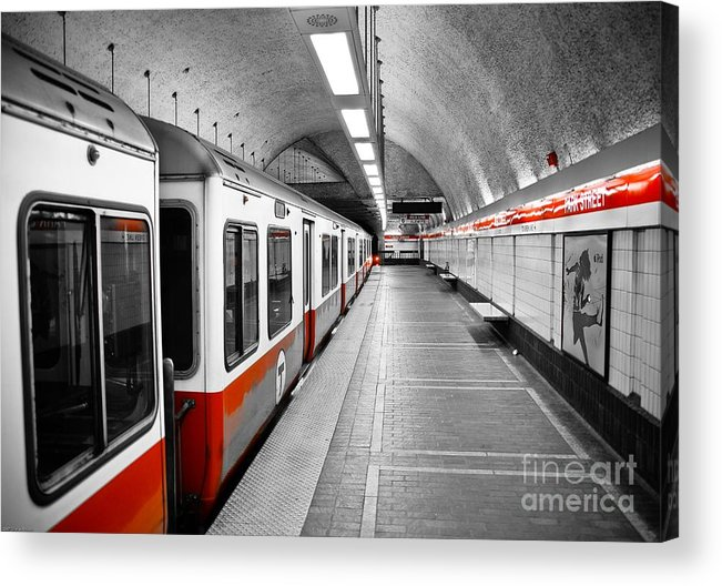Red Acrylic Print featuring the photograph Red Line by Charles Dobbs