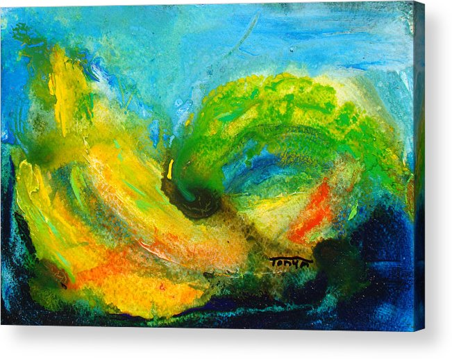 Yellow Acrylic Print featuring the painting Ripening by Tonya Schultz