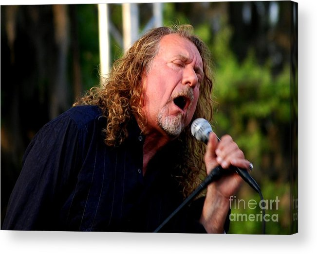 Music Acrylic Print featuring the photograph Robert Plant 2 by Angela Murray