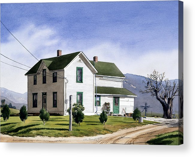 San Pasquale Acrylic Print featuring the painting San Pasquale House by Mary Helmreich