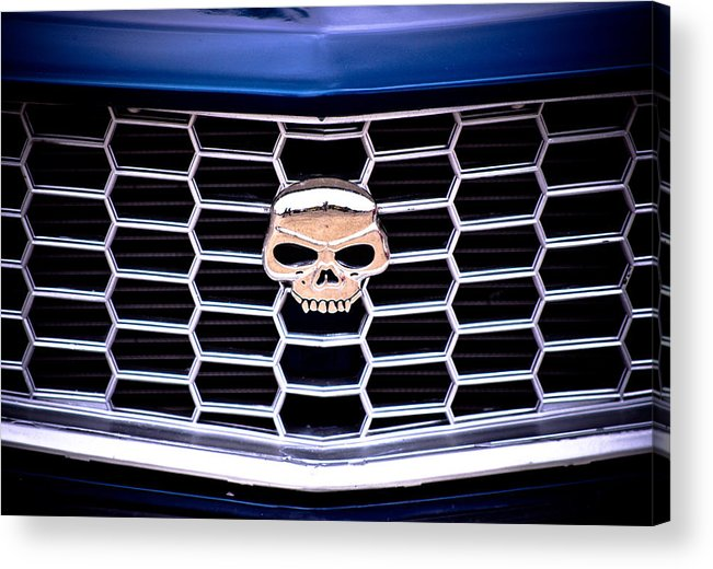 Mazda Rx3 Acrylic Print featuring the photograph Skull Grill by Phil 'motography' Clark