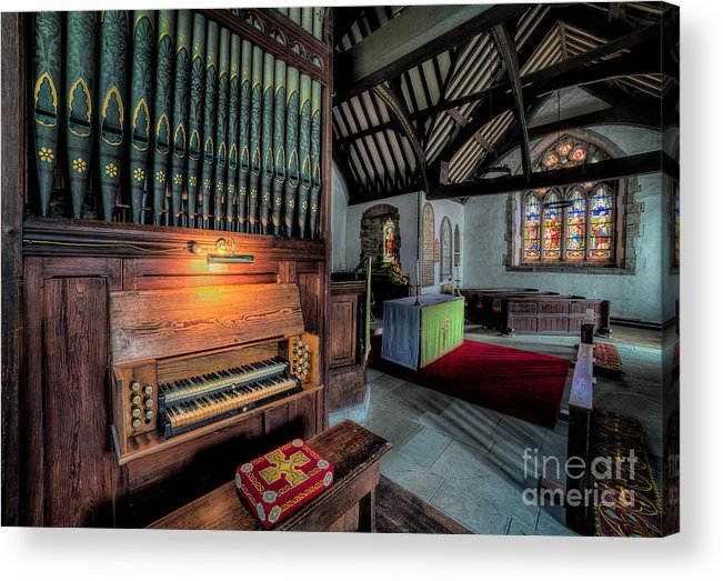 British Acrylic Print featuring the photograph St Digains Church by Adrian Evans