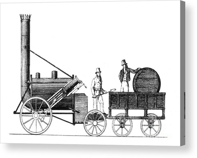 Science Acrylic Print featuring the photograph Stephensons Rocket 1829 by Science Source