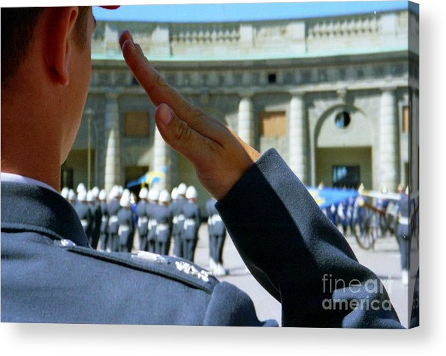 Sweden Acrylic Print featuring the photograph Stockholm Palace Guard Change by Ted Pollard