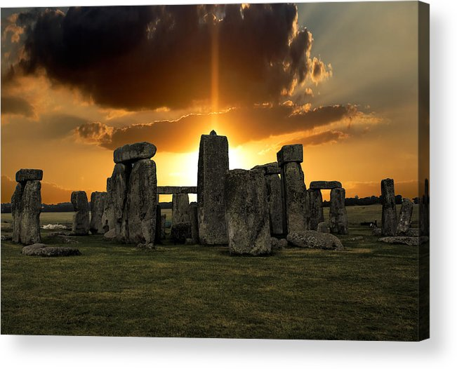 Stonehenge Acrylic Print featuring the photograph Stonehenge Wiltshire Uk by Martin Newman