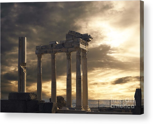 Turkey Acrylic Print featuring the photograph Temple Of Apollo In Side by Jelena Jovanovic