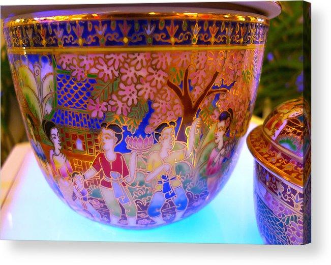 Thai Acrylic Print featuring the photograph Thai Design Ceramics by August Timmermans