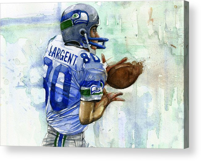 Steve Acrylic Print featuring the painting The Largent by Michael Pattison