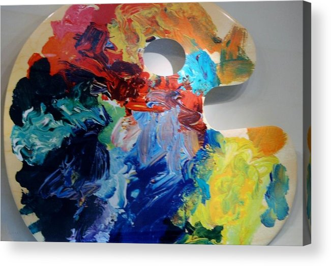 Abstract Acrylic Print featuring the photograph The Palet by Rob Hans