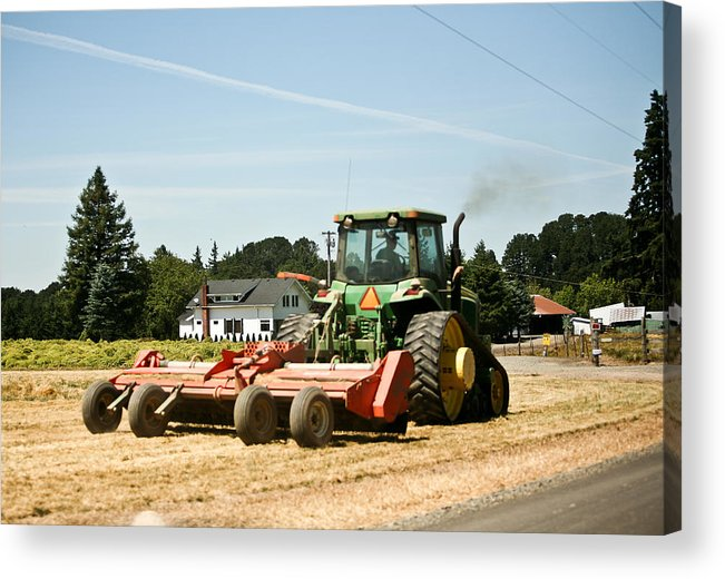 Acrylic Print featuring the photograph Tractor Power by Liz Santie