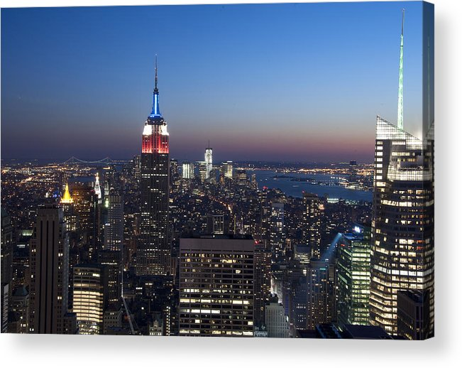 Empire State Building Acrylic Print featuring the photograph View From The Top Of The Rock by David Yack