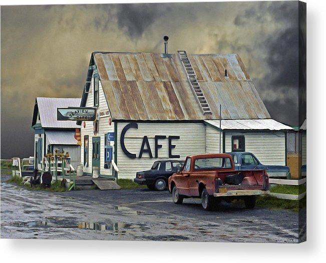 Alaska Acrylic Print featuring the photograph Vintage Alaska Cafe by Ron Day