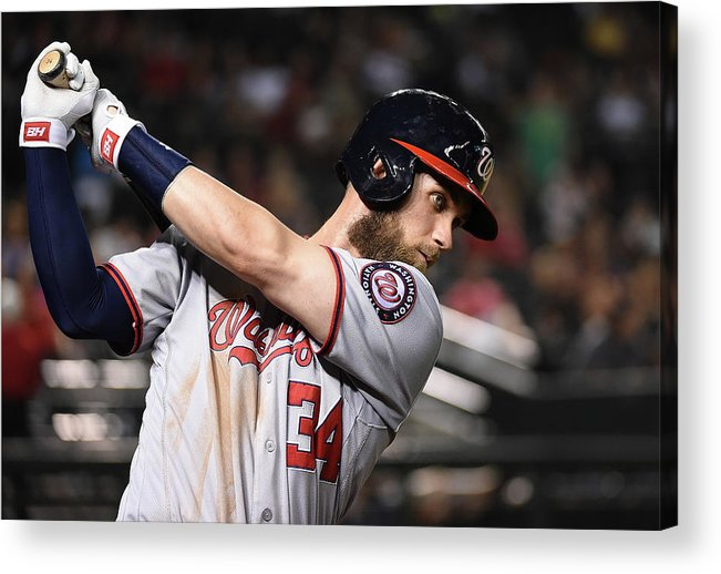 People Acrylic Print featuring the photograph Washington Nationals V Arizona by Norm Hall