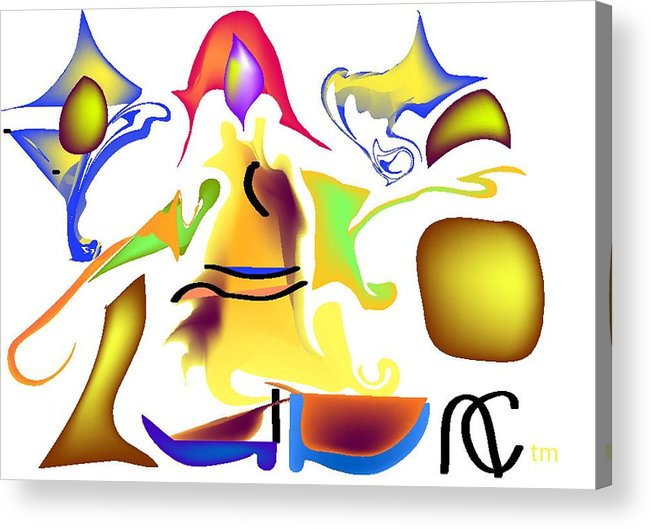 Life's Crazy Acrylic Print featuring the digital art Whispered Visibility by Andy Cordan