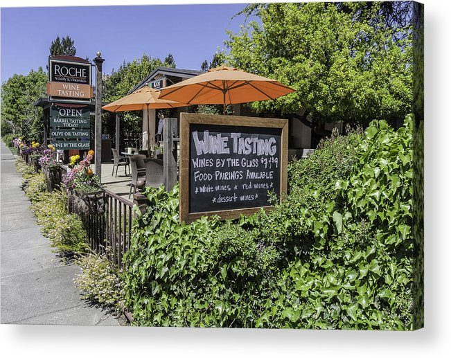 Bar Acrylic Print featuring the photograph Wine Tasting by Karen Stephenson