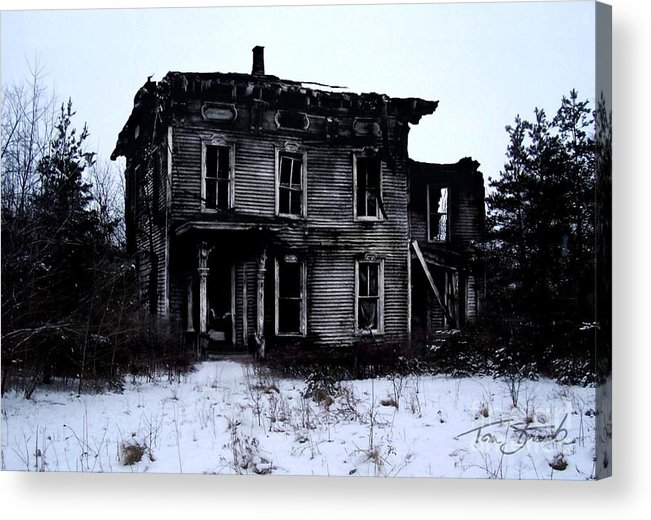 Haunted House Acrylic Print featuring the photograph Winter Home by Tom Straub