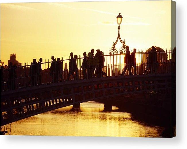 Bridge Acrylic Print featuring the photograph Hapenny Bridge, Dublin, Co Dublin by The Irish Image Collection