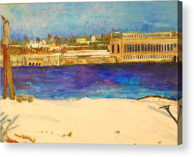 Dam Framed Prints Acrylic Print featuring the painting Looking To The Promised Land by Jame Hayes