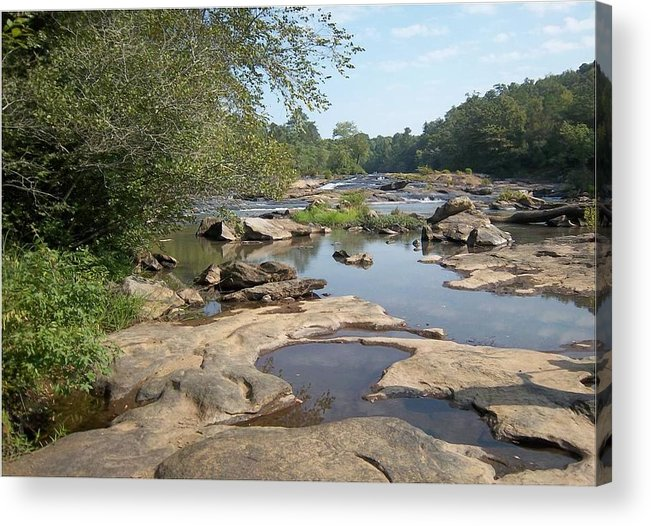River Acrylic Print featuring the photograph River Beauty by Lynnette Brashear