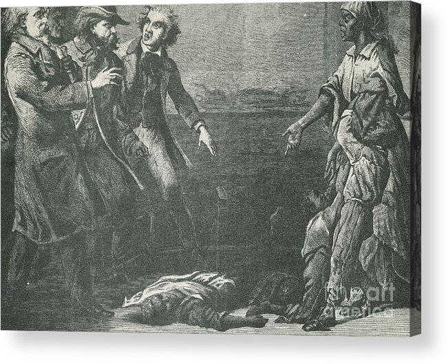 America Acrylic Print featuring the photograph The Capture Of Margaret Garner by Photo Researchers