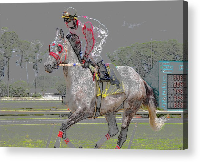 Art Acrylic Print featuring the painting After The Win by David Lee Thompson