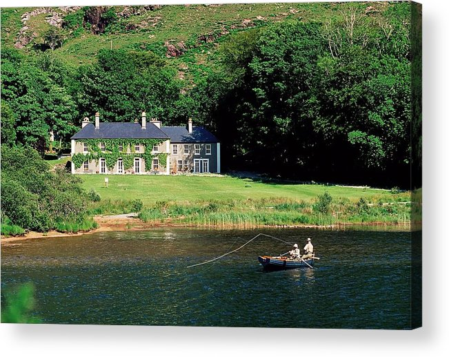 Boat Acrylic Print featuring the photograph Angling, Delphi Lodge, Co Mayo, Ireland by The Irish Image Collection