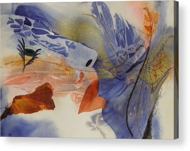 Abstract Acrylic Print featuring the painting Blowin In The Wind by Terry Honstead