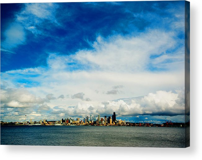 Seattle Acrylic Print featuring the photograph Blue Above The Emerald by Dale Stillman