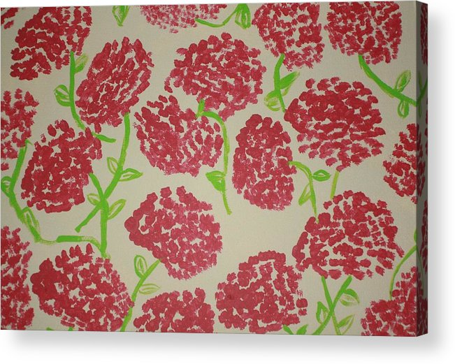 Minch Acrylic Print featuring the painting Carnation Field by Deborah Minch