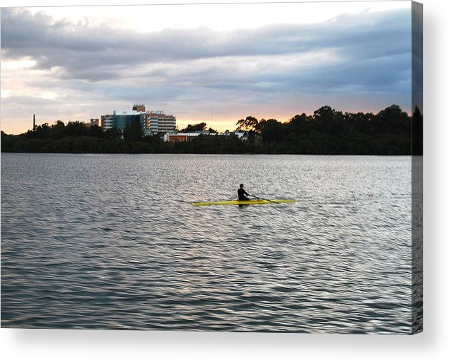Landscape Acrylic Print featuring the photograph Charles River by Nian Chen