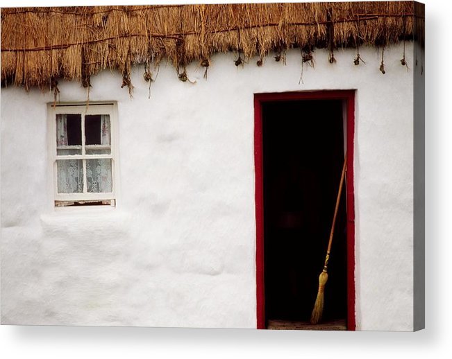 Outdoors Acrylic Print featuring the photograph Co Galway, Ireland Detail Of A Cottage by The Irish Image Collection