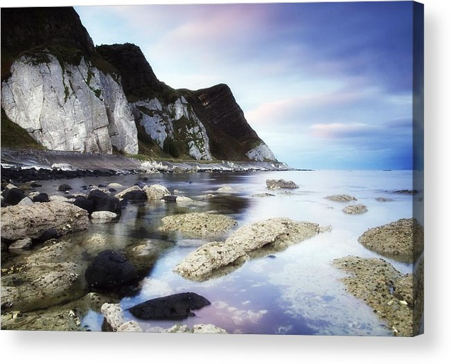 Atmosphere Acrylic Print featuring the photograph Coast Between Carnlough & Waterfoot, Co by The Irish Image Collection