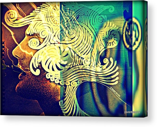 Life Acrylic Print featuring the digital art Confused Meanderings by Paulo Zerbato