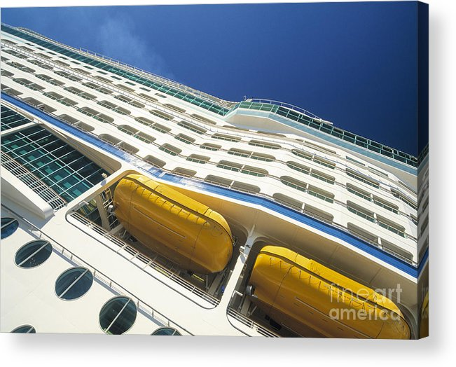 Luxury Acrylic Print featuring the photograph Cruise Ship by Juan Silva