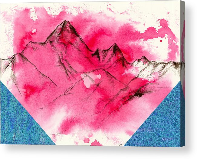 India Ink Acrylic Print featuring the mixed media Excelsis by Chris Ortega