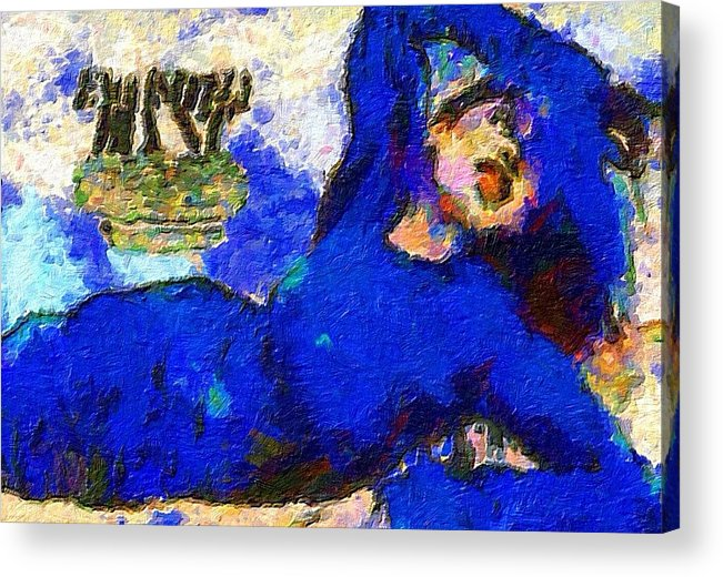 Impressionist Fashion Painting Acrylic Print featuring the painting Fashion 74 by Jacques Silberstein