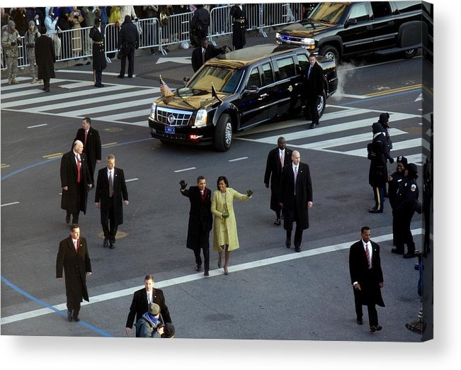History Acrylic Print featuring the photograph Newly Inaugurated President by Everett
