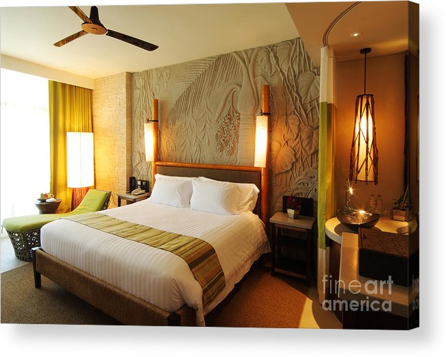 Hotel Acrylic Print featuring the photograph Nice Hotel-room by Atiketta Sangasaeng