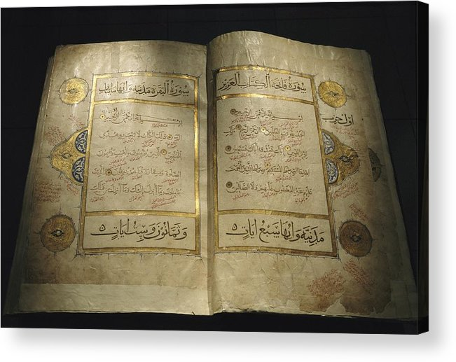 Africa Acrylic Print featuring the photograph Pages Of A 13th Century Koran by Kenneth Garrett