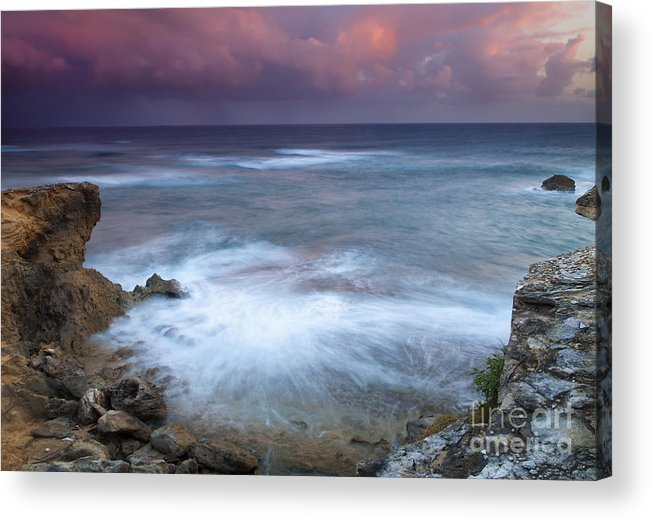 Kauai Acrylic Print featuring the photograph Pastel Storm by Mike Dawson