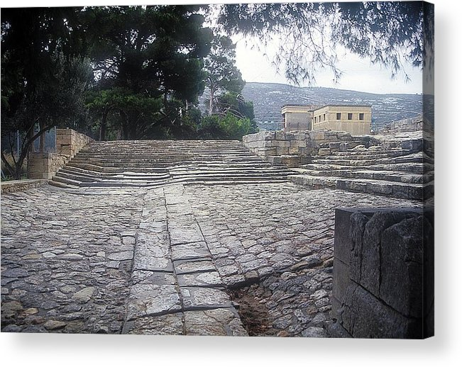 Theatre Knossos Acrylic Print featuring the photograph Path To Theatre by Andonis Katanos