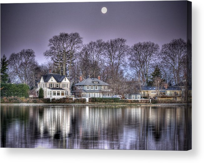 Full Moon Acrylic Print featuring the photograph Purple Morning Majesty by Vicki Jauron